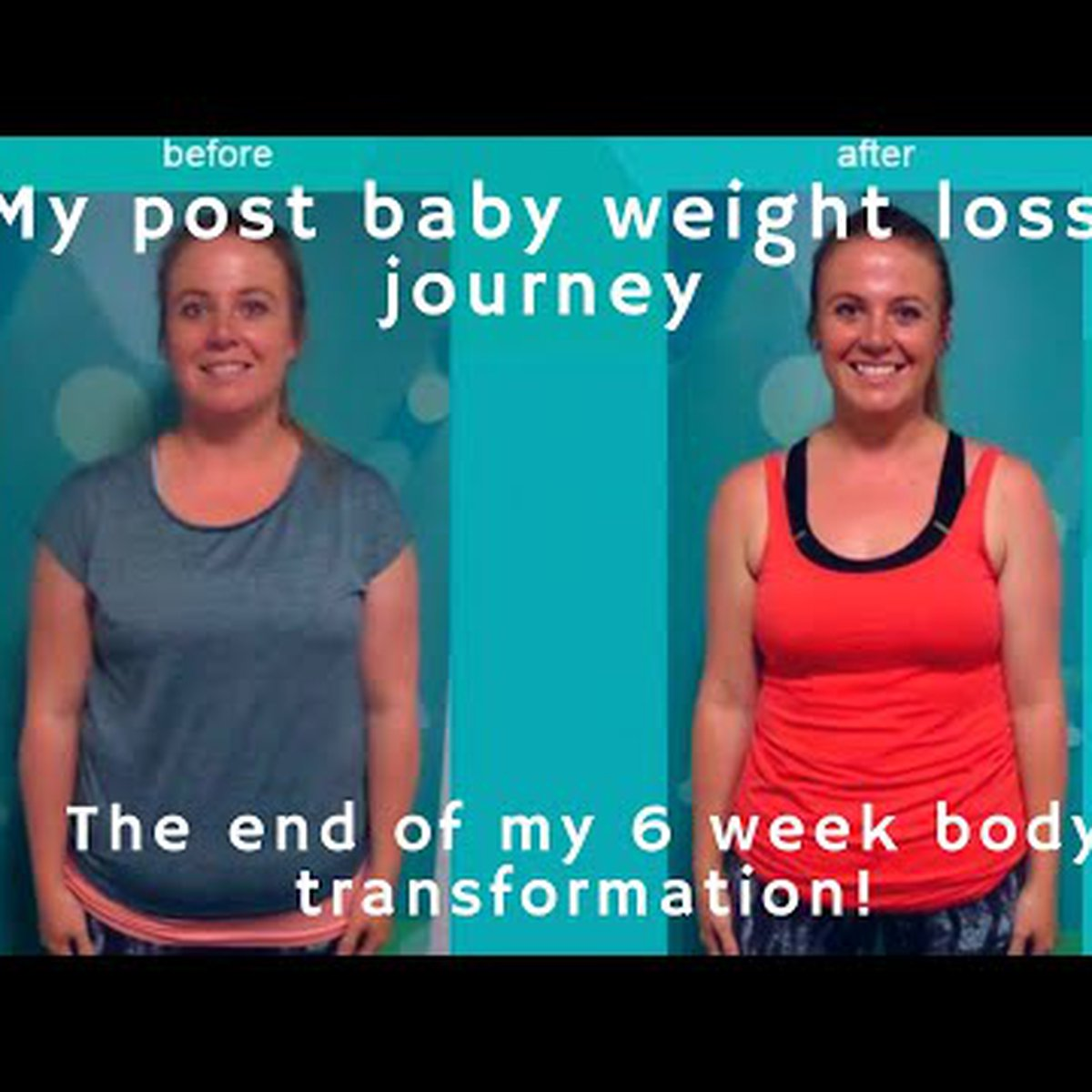 My post baby weight loss journey | the end of my 6 week transformation